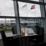 Hotel Restaurant. Those flags are the entrance to the CPH airport.