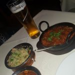 Mushroom Rice.. Lamb Bhuna, Mushrooms and a pint.. heaven!