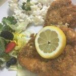 Schnitzel w/ homemade potato salad