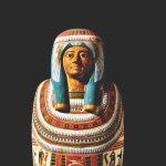 Coffin and mummy of Meresamun, 946-715 BC