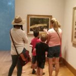 Taking in the art!