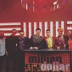 My wife and I and the talented cast of Million Dollar Quartet