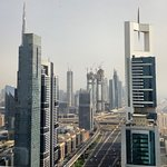 Amazing view from Level 43, Four Points by Sheraton Sheikh Zayed Road in Dubai