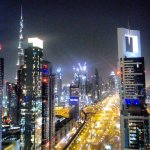 By night Level 43,Four Points by Sheraton,Sheikh Zayed Road - Dubai