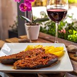 Cocina mallorquina: berenjenas rellenas / Majorcan cuisine: stuffed aubergine