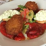 best starter, crispy balls of goat cheese
