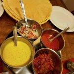 Poppadoms and various dips!!! Chutney was so good!