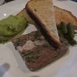 Terrine with broad bean paste