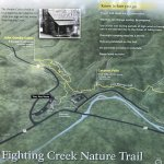 Trail guide behind the Sugarlands Visitors Center