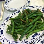 Green Bean with tiny bits of meat