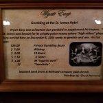 Wyatt Earps Private Gambling Bill