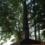 Walk in a park. In 1799 Burhard von Vietinghoff ordered to build an obelisk in hounour of his fa