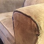 well-used armchair. yuck