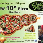 "Come in and try our new 10"" pizza!"