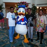 Pic with donald in the lobby