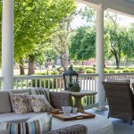 Our large porch over looking the grounds