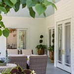Relax on our extended porch