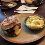 chicken burger and mash