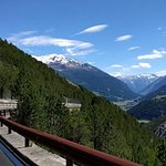 Descendind the Stelvio towards Bormio