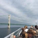 Heading to go under the bridge