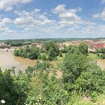 Panorama of Zanesville with the Y-Bridge from Putnam Hill Park.
