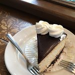 Chocolate cheesecake. Share with a friend! It's rich.