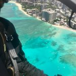 Doors off helicopter tour with Nathan over Waikiki Beach