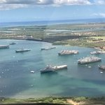 Pearl Harbor view from the doors off helicopter ride