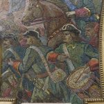 Mosaics in the subway station in Moscow