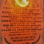 Beer menu - Track 7 from Sacramento, Karl Strauss from San Diego, Anchor, Deschutes, Alaskan :)