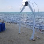 Ceremony location on the beach