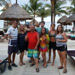 Our family with Gabriel at the Travel Club beach
