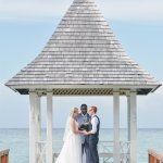 wedding on gazebo pier
