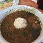 Mumbo gumbo !!! It was delicious !! And the blackened gator bites were superb but I just wished