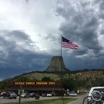 Pulling in - Devils Tower