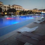 The pool at night when walking to Dining area for dinner!!