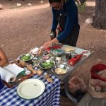 make your own pizzas trailside!