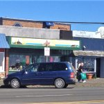 Store fronts along highway 101 at Depot Bay (Sea Hag on Left)