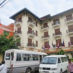 Hotel (hotel 1) building with breakfast restaurant and outdoor swimming pool