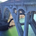 Bridge over waterway into Depot Bay, Oregon