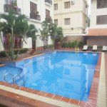 "Outdoor swimming pool in ""hotel 1"" building"
