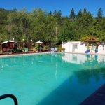 huge pool of spring water