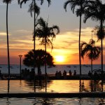 Sunset over the infinity pool and the Arafura Sea. Ohoto by Deanne Scott