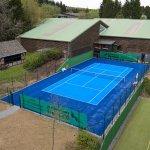 Kunstrasen Tennisplatz