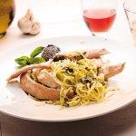 Spaghetti alla Genovese (selon saison)