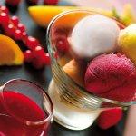 Pour les amateurs de fruits, large choix de sorbets.