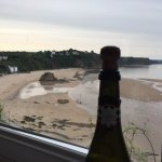 View of Tenby North beach from Bay of Bengal restaurant