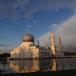 Sunset-lit mosque