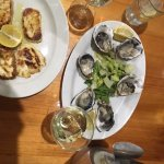 Grilled Haloumi and Natural Oysters
