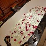 Flower bath surprise for honeymoon